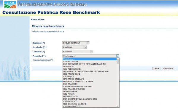 Consultazione Pubblica Rese Benchmark 2010-2015