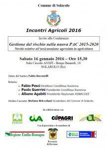 Comune di Solarolo Incontri Agricoli Condifesa 16-01-2016
